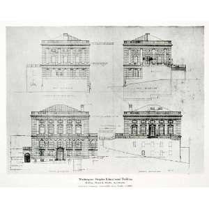 1928 Print Washington Heights Educational Building McKim