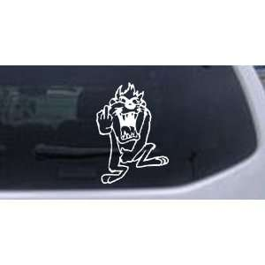 Taz bird Cartoons Car Window Wall Laptop Decal Sticker    White 18in X