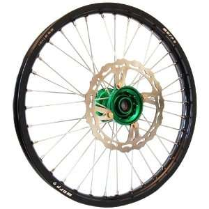 Warp 9 MX Wheels Green/Black Wheel with Painted Finished