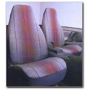 Fast Lane Tweed Weave Universal Bucket Seat Cover, Blue