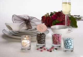 GLASS HOLDER & VOTIVE CANDLE WEDDING FAVORS Party Gift Set