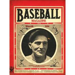 1935 Baseball Magazine Paul Waner Cover Ruth Cobb: Sports & Outdoors