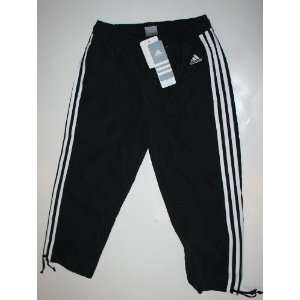 adidas Womens Sport Poly Capri Pants Size XS 0 2   Black