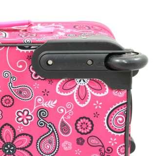 Rockland 2 Pc Carry On Luggage Set   Pink Bandana
