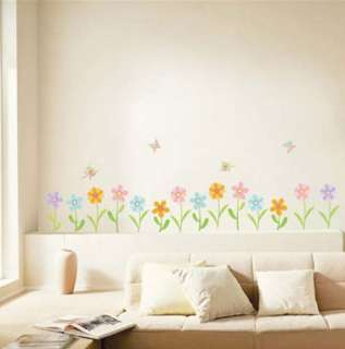 Flower Butterfly Adhesive Wall STICKER Removable Decal