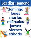 DAYS OF THE WEEK Spanish Poster Chart CTP NEW