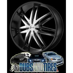 22x9.5 HELO wheels HE868 Gloss Black Machined wheels rims Automotive