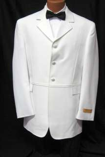NEW Andrew Fezza White Captian Coat Tuxedo Jacket 40R