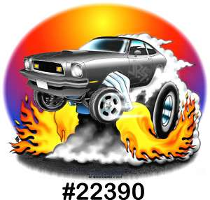 74 78 MUSTANG Drag Hot Rod Muscle CarTOON T Shirt