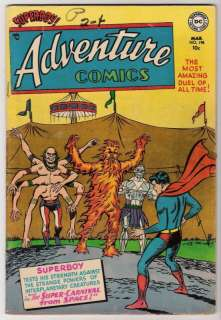 Adventure Comics #198 VG 4.0 Superboy Aquaman Curt Swan Art 1954