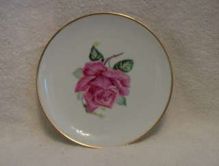Selb Bavaria Germany Heinrich Picture Salad Plate Saucer Pink
