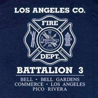 Los Angeles County Fire Dept. Battalion 3 T shirt XL