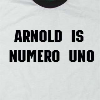 ARNOLD IS NUMERO UNO T SHIRT VINTAGE VENICE MUSCLEMAN |