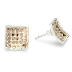 Anna Beck Designs Gili 18k Rose Gold Plated Square Post Earrings