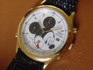 Vintage Seiko Mickey Mouse Chronograph Watch  7T32 6E99