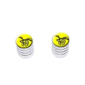 Bee Wasp Hornet Black on Yellow   Tire Rim Valve Stem Caps