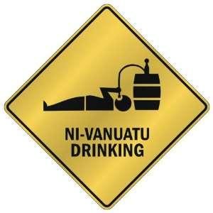 NI VANUATU DRINKING  CROSSING SIGN COUNTRY VANUATU