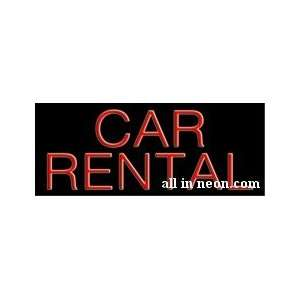 Car Rental Business Neon Sign Office Products