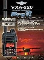 Vertex Standard VXA 220 Pro VI AIR BAND Portable Radio