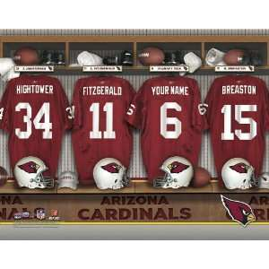 Personalized Arizona Cardinals Locker Room Print Sports