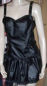 Gothic Vampire Rock Black Pleather LIP SERVICE Dress
