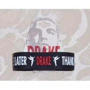 DRAKE Thank Me Later Black Rubber Bracelet WRISTBAND