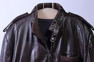 MENS VTG MEMBERS ONLY SOFT LEATHER CAFE RACER JACKET 44