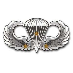 US Army Basic 3 Combat Jump Wings Decal Sticker 3.8