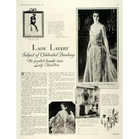 1928 Ad Ponds Extract Lady John Lavery Vanishing Cream