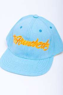 NEW MENS THE HUNDREDS LIGHT BLUE YELLOW SCRIPT LOGO CLOTH HAT CAP