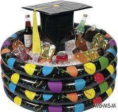 INFLATABLE HIGH SCHOOL COLLEGE GRADUATION PARTY BEVERAGE COOLER COLD