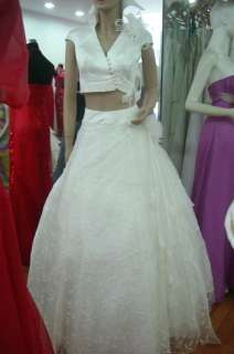 Tea Length Wedding Prom Dress Formal Gown Size*Custom*