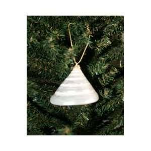 White Troca Christmas Ornament Seashell