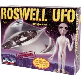 Roswell Crash UFO Extraterrestrial Flying Saucer Model