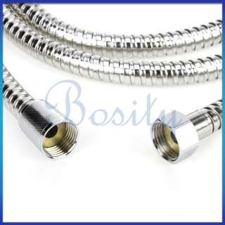 2m Stainless Steel Flexible Braided Shower Hose 1/2 Water Heater Hose