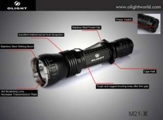Olight M21 X Warrior Tactical Flashlight   600 Lumens   Battery