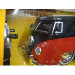 JaDa 1963 Vw Bus Pick Up Black & Red Remote Control Scale
