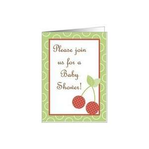 Fresh Red Cherries Baby Shower Invitation Card: Health & Personal Care