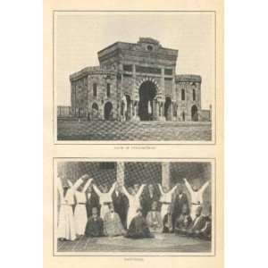 1902 Turkey Turkish Women Dervishes Gate of Seraskierat