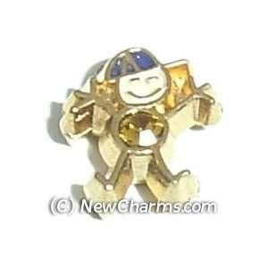 Boy Birthstone Novmber Floating Locket Charm Jewelry