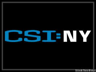 CSI NY Crime Scene Investigation Decal Sticker (2x)