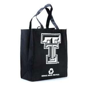 Texas Tech Red Raiders Black Reusable Tote Bag