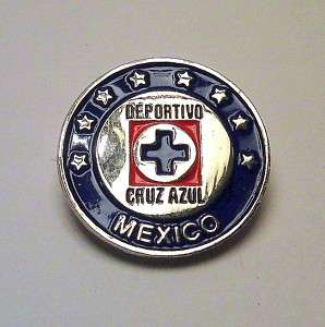 CRUZ AZUL CLUB DEPORTIVO MEXICO FUTBOL LAPEL PIN NEW