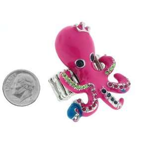 com Fashion Jewelry ~ Pink Fuchsia Octopus Accented with Multi Color