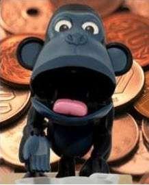 Choken Bako Monkey Chimp Money Coin Bank Piggy Box