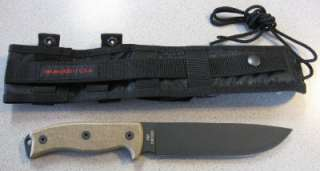 NEW Ontario 8604 RAT 7 RAT7 Survival Knife & Sheath 1095 Steel Made in