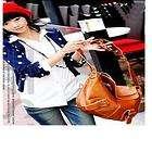 Valentino Womens Shoulder Tote 3 Compartment Handbag Purse 5845 Brown