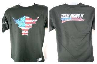 The Rock USA Bull Team Bring It WWE Authentic T shirt NEW