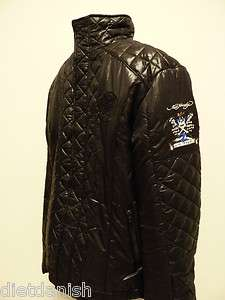 Ed Hardy Christian Audigier Mens Jacket Live to Ride black L