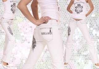 NOUVELLE FEMME BLANC PANTALON JEANS FASHION 8307N Top Sexy